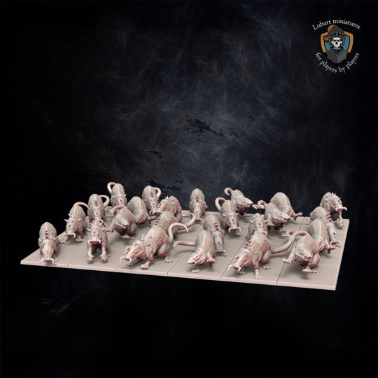 Giant Rats The Vermin Swarm miniatures