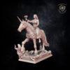Damsel On Unicorn Kingdom of Equtaine miniature