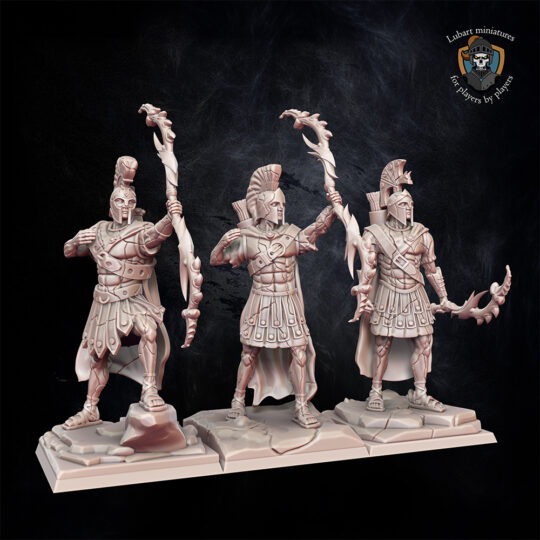 Greek Shabtis with bows. Miniatures for the Undying Dynasties army.