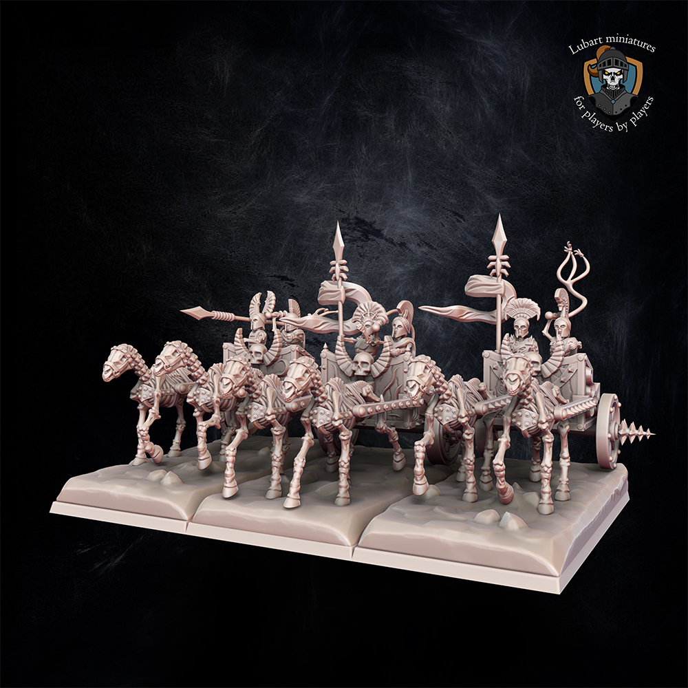 Skeleton Chariots. Miniatures for Undying Dynasties