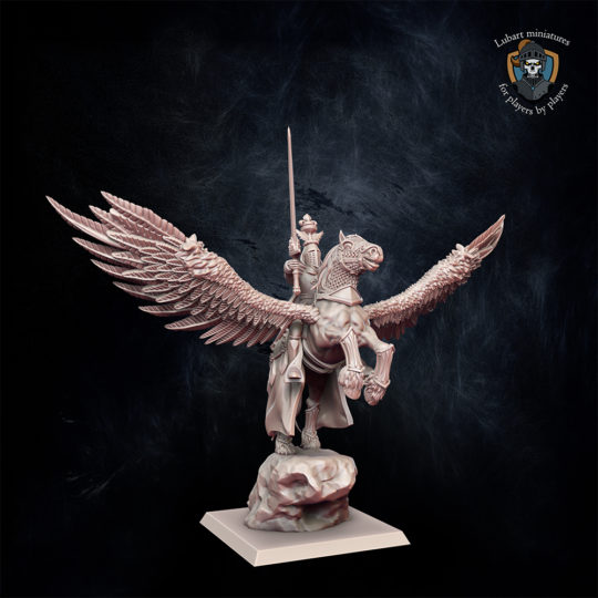 Paladin on Pegasus Kingdom of Equitain miniature