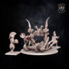 Charnel Catapult. Miniatures for the Undying Dynasties army.