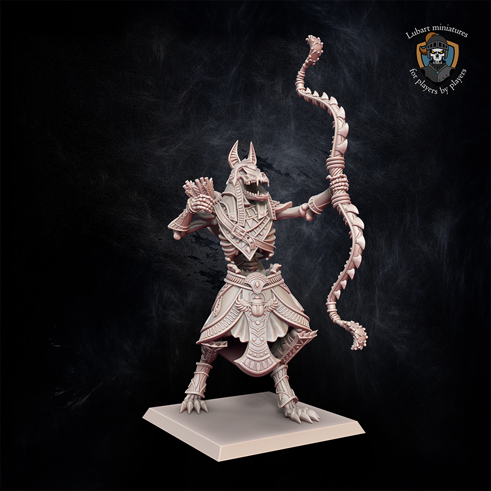 Colossus with Bow. Miniatures for the Undying Dynasties army.