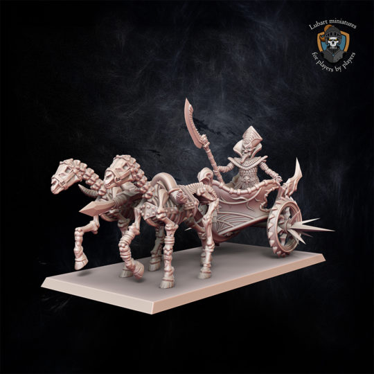 Hero on chariot miniature for Undying Dynasties