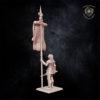 Battle standard bearer Kingdom of Equitain miniature