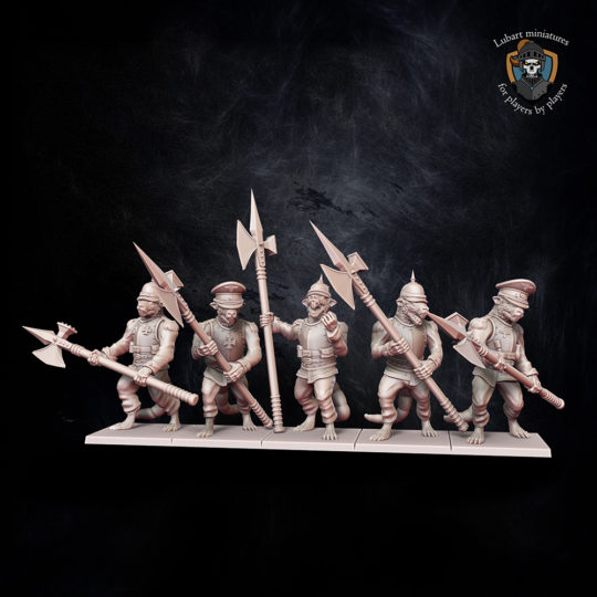 The Vermin swarm Vermin Guard miniatures