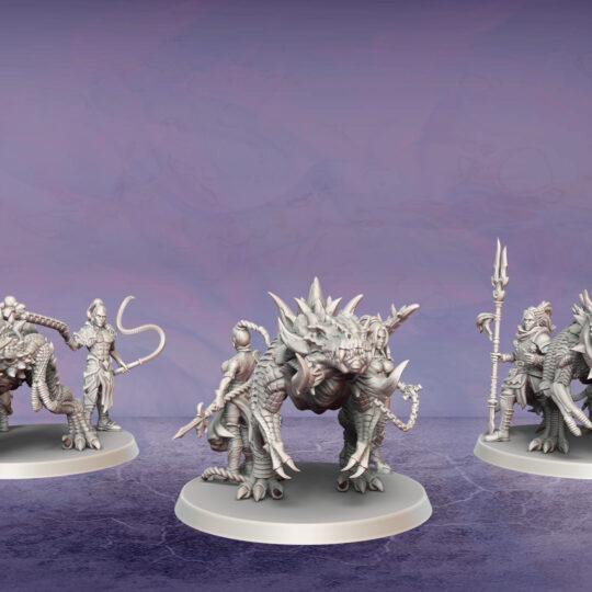 Thunder Herd. Miniatures for the Dread Elves army.