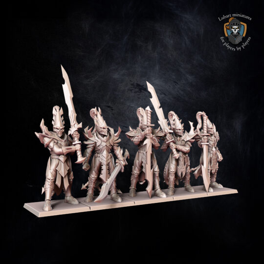 Judicators. Miniatures for the Dread Elves army.