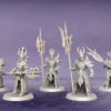Obsidian Guards. Miniatures for the Dread Elves army.