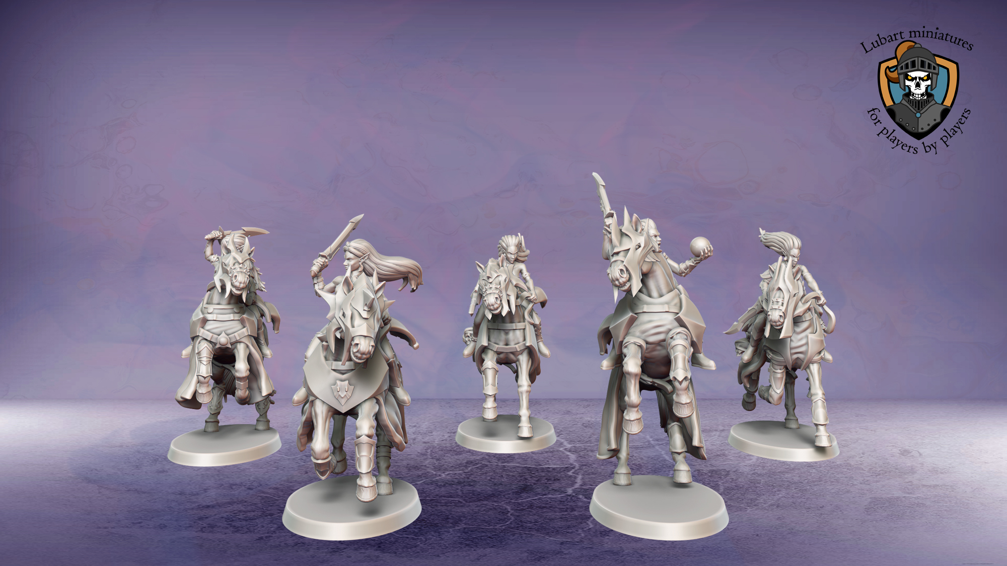 Warlock Acolytes. Miniatures for the Dread Elves army.