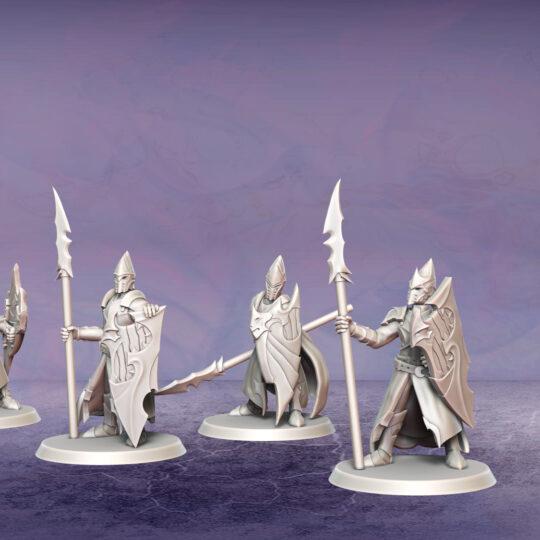 Dread Legionaries. Miniatures for the Dread Elves army.