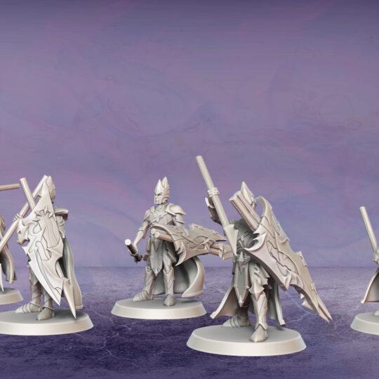 Legion Auxiliaries. Miniatures for the Dread Elves army.